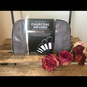 Charcoal infused makeup brushes
